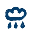 Painted Blue Rainy Cloud Icon vector image