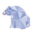 abstract polygonal geometric polar bear triangle vector image