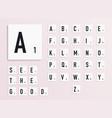 alphabet letters on white scrabble pieces vector image