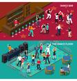 Bar Dance Floor 2 Isometric Banners vector image vector image