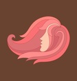 beautiful hair woman vector image