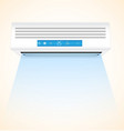best air conditioner realistic on wall background vector image