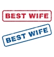Best Wife Rubber Stamps vector image vector image