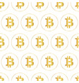 bitcoin icon seamless pattern metallic vector image