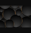 black and orange circles abstract tech background vector image vector image