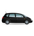 black minivan vector image vector image