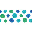 blue birthday party paper pom poms set vector image vector image