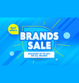 brands sale advertising banner with typography vector image