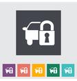 Car lock vector image vector image