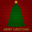 Christmas tree with pyramids background vector image