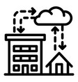 city rainfall icon outline style vector image