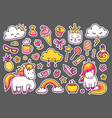 collection of magic stickers vector image vector image