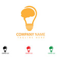 Creative bulb logo design