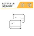 credit cards editable stroke line icon vector image vector image