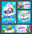 easter greeting paschal banner poster card vector image vector image