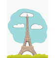 Eiffel Tower for magazine and newspaper vector image vector image