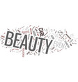 essential beauty tips text background word cloud vector image vector image