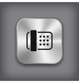 Fax icon - metal app button vector image vector image