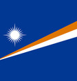 flag in colors of marshall islands image vector image vector image