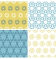Four abstract yellow blue abstract florals vector image vector image