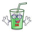 geek green smoothie character cartoon vector image vector image