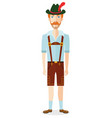 german cartoon oktoberfest man in traditional vector image