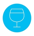 Glass of wine line icon vector image vector image