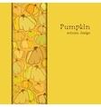 Golden autumn background with border design vector image