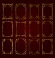 golden vintage decorative calligraphic frames vector image vector image