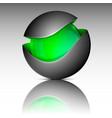 green circle sphere logo vector image vector image