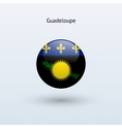 Guadeloupe round flag vector image vector image