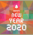 Happy new year 2020 on colourful geometric