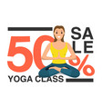happy woman doing yoga sport training program vector image