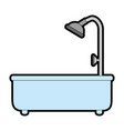 home bathtub isolated icon vector image