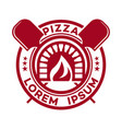 hot pizza logo vector image vector image