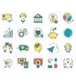 infographic set business icons Marketing vector image