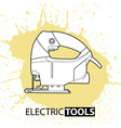 jig saw on bright background vector image vector image