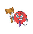 judge bowling ball character cartoon vector image vector image