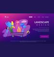 landscape design concept landing page vector image vector image