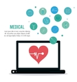 Medical care and technology vector image vector image