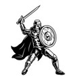 medival soldier with shield vector image