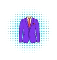 Men jacket with shirt icon comics style vector image vector image