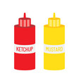 mustard and ketchup bottle for fast food vector image
