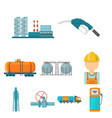 oil industry set icons in cartoon style big vector image vector image