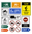 parking area compound signs signboards a set of vector image vector image
