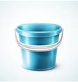 Plastic bucket vector image