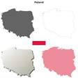 Poland outline map set vector image vector image