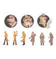 police detective and private investigator at work vector image