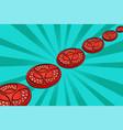 pop art tomatoes art vector image