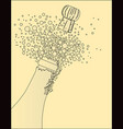popping the cork vector image vector image